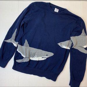 Gap Shark sweater navy crew neck great white XL